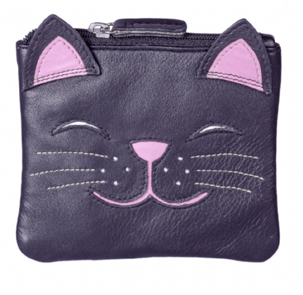 Leather Rosie the Cat Coin Purse